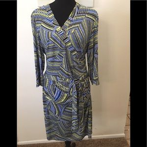 LAUNDRY BY SHELLI SEGAL WRAP DRESS-SIZE M